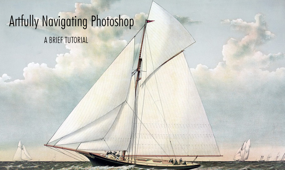 sailing ship artfully navigating photoshop